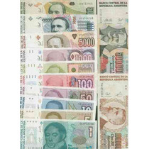 Serie Completa Billetes Australes ¡ Imperdible !