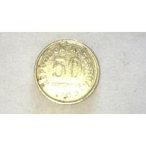 Antigua Moneda De 50 Centavos Argentina Año 1953