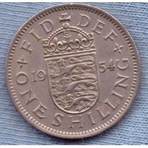 Inglaterra 1 Shilling 1954 * Escudo Ingles * Elizabeth Ii *