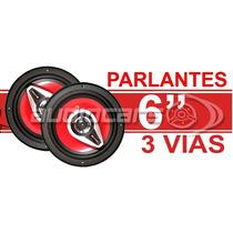 Parlantes 6 Pulgadas 250 Watts 3 Vias Cono Rojo Lyf Bf6000