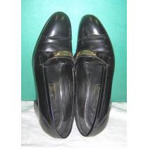 Zapato Calzado Mocasín Negro Magurno N°38 1/2 D/colección Ex