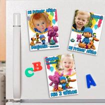 Pocoyo Souvenirs Cumpleaños 10 Imanes Con Foto Super Lindos