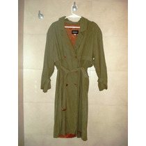 Cacharel Trench Piloto Impermeable Verde Seco