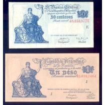 Argentina Billetes Pesos Moneda Nacional 0.50 Y $ 1.00
