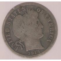 Estados Unidos Usa 1 Dime 1913 Mb
