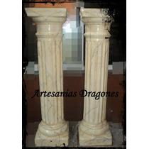 Columnas De Yeso Simil Marmol Doricas 80cm X20cm