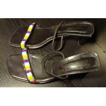 Sandalias Paruolo Usadas Negra/multicolor Talle 40