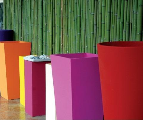 Macetas pintadas en colores p arboles ca as cubo n 80 - Macetas fibrocemento ...