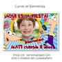 Phineas Y Ferbs Set Cumpleaños Cartel + Souvenirs Imantados