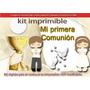 Kit Imprimible Candy Bar Mi Primera Comunión Tarjetas Cotill