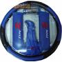 Kit Cubre Volante Bocha Cubre Cinturon Cufia Azul