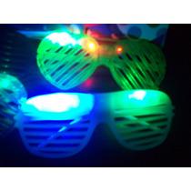 5 Anteojos Floggers Luminososo Cotillon Luminoso