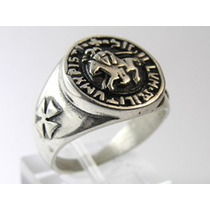 Anillo Caballero Templario - Masoneria - Masonico
