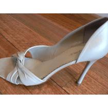 Zapato Divino 37.5 Es Medio Gris Nacarado Bcbgirls