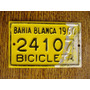 Antigua Patente De Bicicleta Bahía Blanca 1960 Nº24107