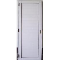 Puerta Aluminio Blanco 800 X 2000 Ciega, Nueva