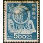 Japón Sello Usado Locomotora = Tren X 500 Yens Año 1948-49
