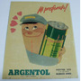 Propaganda Cartel Carton Argentol Fluido Para Frenos