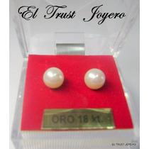Aritos Abridores Perla/ Oro 18k. Nº 4 El Trust Joyero Gtia
