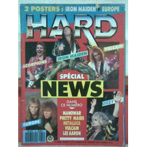 Revista Hard Magazine Metal Stryper Manowar Maiden Europe !!