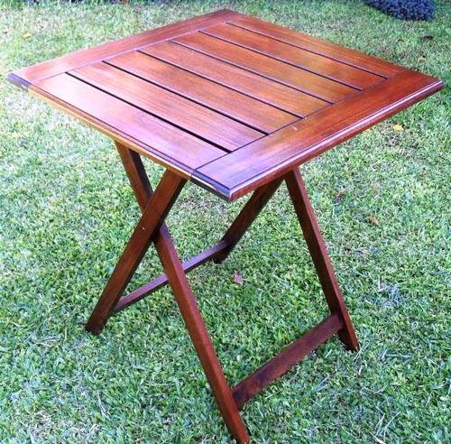 Mesa madera plegable paraiso bares jard n interior - Mesa plegable exterior ...