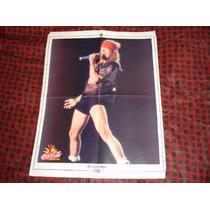 Poster Axl Rose, Revista Gente- Colección Historia Viva Rock