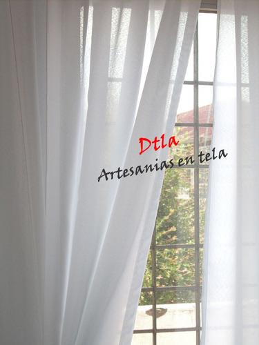 Cortinas visillos tela voile niza para puertas o ventanas - Cortinas ya hechas ...