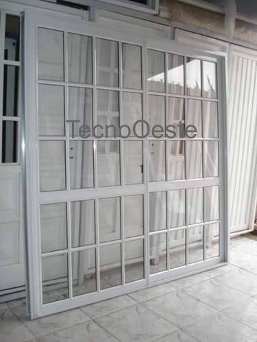 Puerta ventana balcon corrediza aluminio blanco 200x200 for Puerta ventana corrediza aluminio