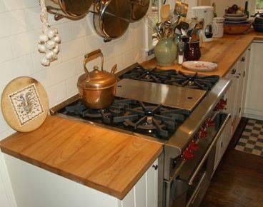Mesada tabla barra desayunador pasaplato madera dura for Mesada de madera para cocina