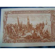 Billete Cien Pesos Maneda Nacional Marron