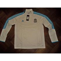 Liverpool Inglaterra Buzo Blanco Adidas Climawarm Utileria