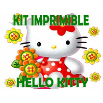 Kit Imprimible Candy Bar Hello Kitty Personalizar Golosinas