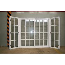 Bow Windows Aluminio Blanco Con Vidrio