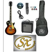 Sx Pack Guitarra Sx Eg2 Les Paul+ampli Sx