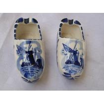Ceniceros De Ceramica Holandesa Sellados (un Par)