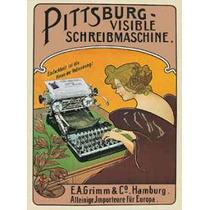 Poster De Propaganda Antigua - Maquina De Escribir - 66 X 47