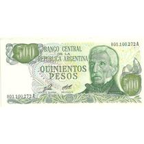 Billete 500 Pesos Ley Reposicion Bottero 2422 Sin Circular
