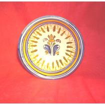 Plato Decorativo De Cerámica Firmada Esvanti 15,5 Cm.(393)