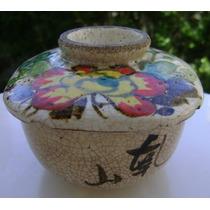 Antiguo Bol De Arroz Japonés Con Tapa
