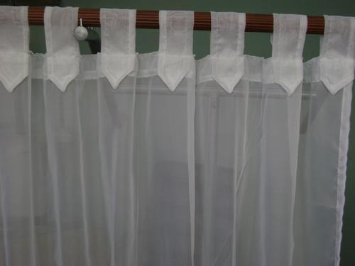 Cortinas listas para colgar p barral o riel tela voile for Zapateros tela para colgar