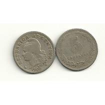 Moneda Argentina Niquel 5 Centavos Año 1908 Buena-