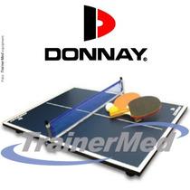 Mesa De Ping Pong Donnay Usa -mini Full+ Red Paletas Pelotas