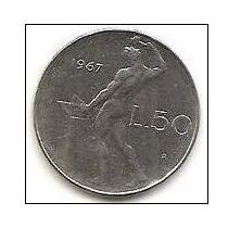 Moneda 50 Liras Italia 1967.y1983 (foto.ilustrativa)