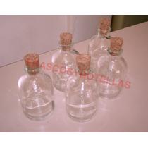 Frascos-botellas De Vidrio 50 Cc Con Corcho X 50 Unidades