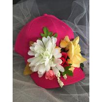 Gorra Con Flores - Cotillon Original - Casamientos - 15 Años