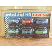 Antiguo Set De 6 Autos Plasticos ** Corsa **