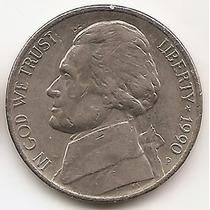 Moneda Estados Unidos De 5 Cents.five Cents Año1990 P