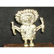 Figura Deidad Maya De Bronce