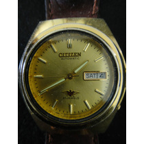Reloj Citizen Automático, Malla Cuero Y Doble Calendario