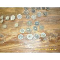 Cuarenta Y Cinco Botones Hechos De Monedas Antiguas Rastra